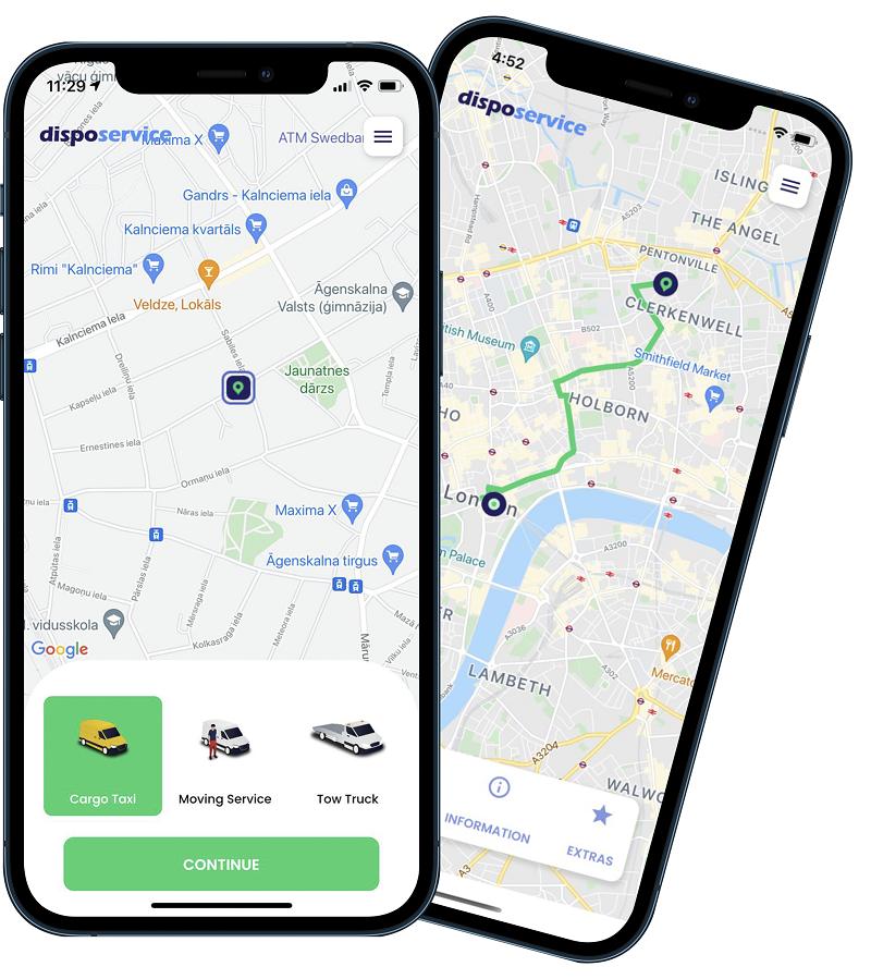 DispoService mobile app